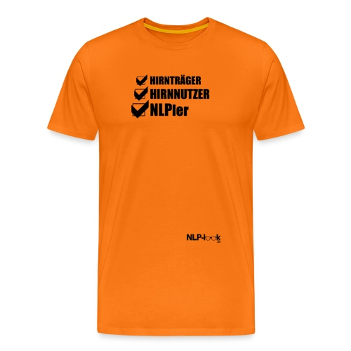 hirntraeger de b png - Männer Premium T-Shirt