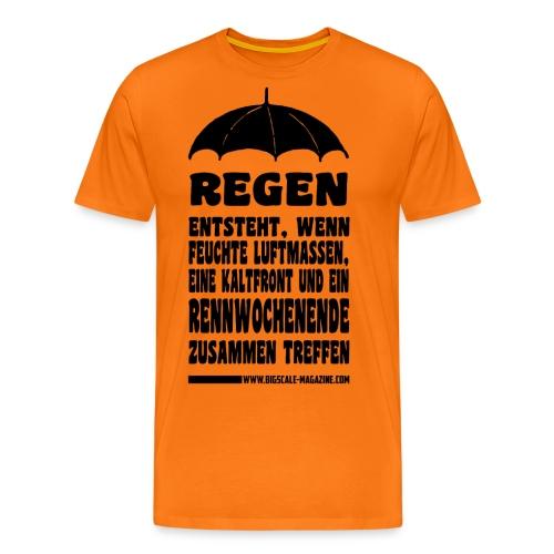Regen schwarz png - Männer Premium T-Shirt