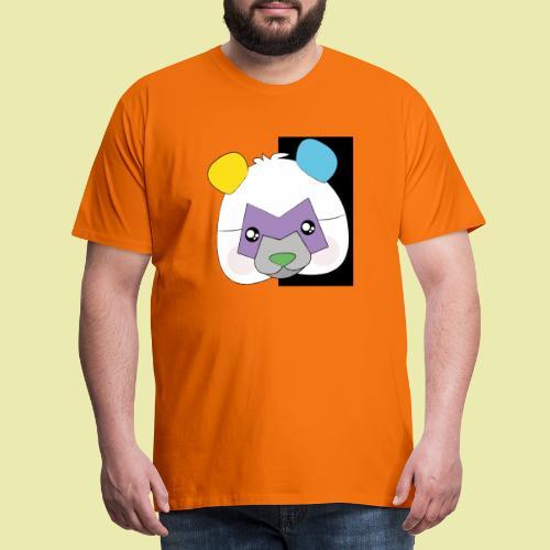 Cute popular Panda with many colors! - Premium T-skjorte for menn