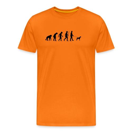 Evolution vom Affen zum Hundehalter - Männer Premium T-Shirt