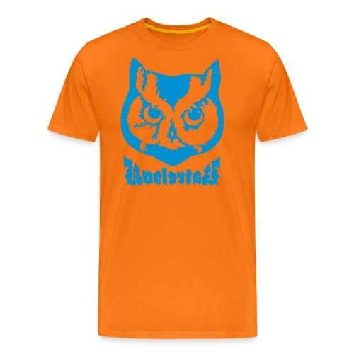 Ugle logo - Premium T-skjorte for menn