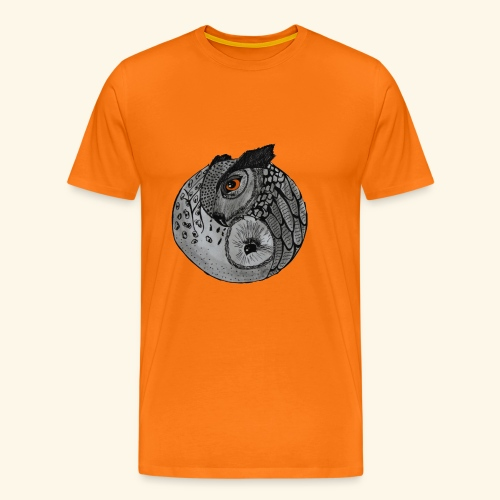 Chouette ying-yang - T-shirt Premium Homme