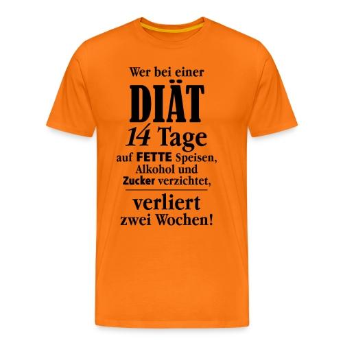 14 Tage Diät Übergewicht Alkohol Zucker fett essen - Men's Premium T-Shirt