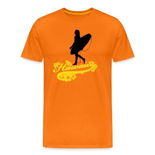Surf Hawaii Longboard - Männer Premium T-Shirt