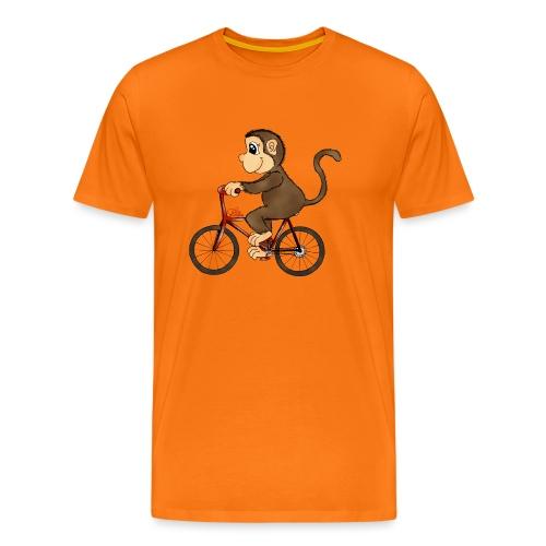 Radelnder Affe - Männer Premium T-Shirt