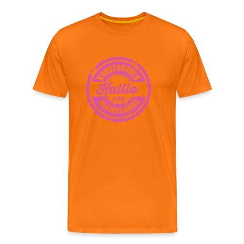 22P-KALLION KORKEAKOULU - Tekstiilit ja lahjat - Miesten premium t-paita