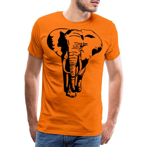 Elefant - Premium T-skjorte for menn