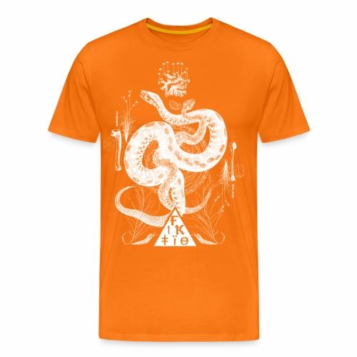 Fiktio käärmeprintti - Miesten premium t-paita
