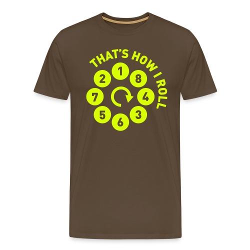v8firingroll01b - Premium T-skjorte for menn