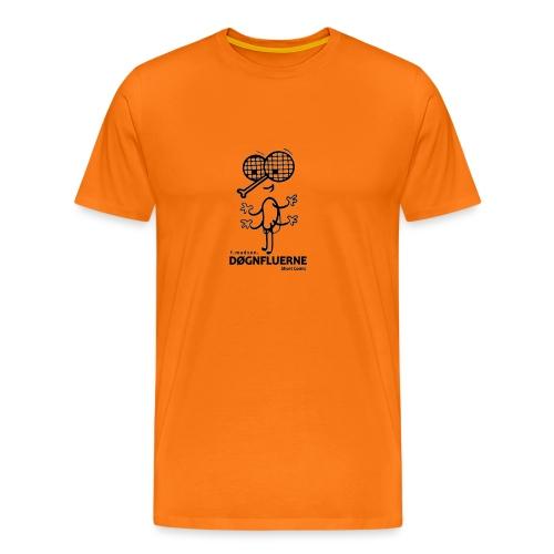 Døgnfluerne Short Comic Simpelt Logo Design. - Herre premium T-shirt
