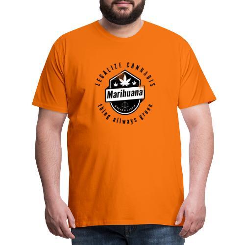 Legalize Cannabis Smoke Weed VINTAGE - Men's Premium T-Shirt