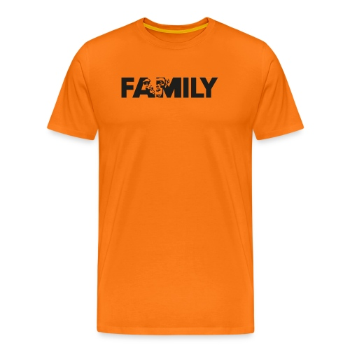 Family Logo Sticker SW - Männer Premium T-Shirt