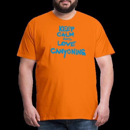 keep calm and love canyoning - Männer Premium T-Shirt