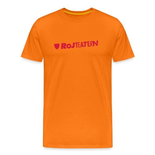 T-shirt herr logga navy/orange - Premium-T-shirt herr
