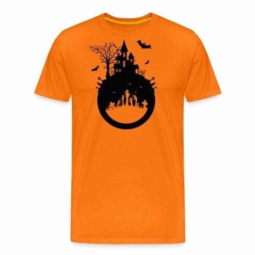 Haunted House - Halloween Design - Männer Premium T-Shirt