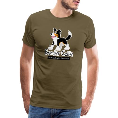 CartoonClub Border Collie Trico - Men's Premium T-Shirt