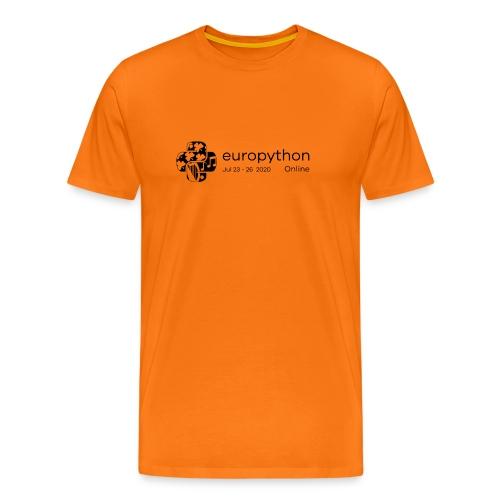 EuroPython 2020 - Black Logo - Men's Premium T-Shirt