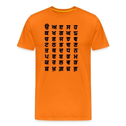 Punjabi Alphabet - Men's Premium T-Shirt