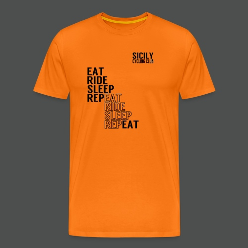 Eat Ride Sleep RepEAT - Men's Premium T-Shirt