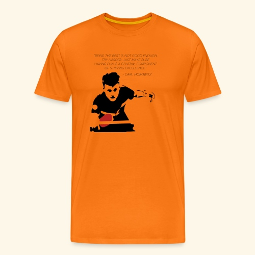 Table Tennis Championship serving - Männer Premium T-Shirt