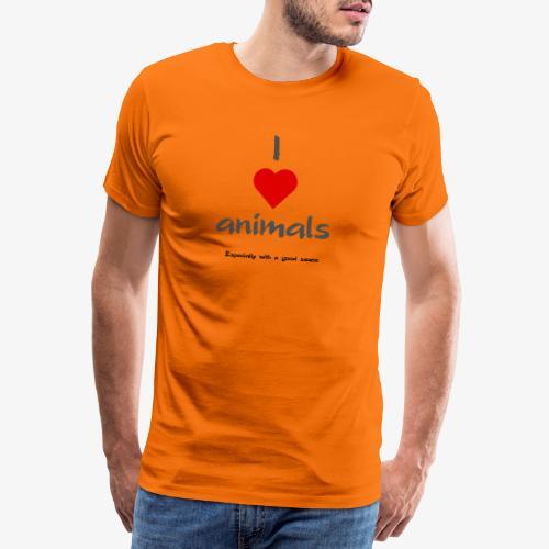 i love animals - Premium-T-shirt herr