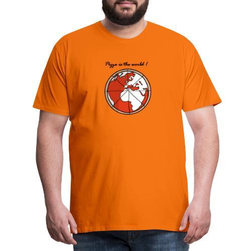 Mondo a forma di pizza - Maglietta Premium da uomo