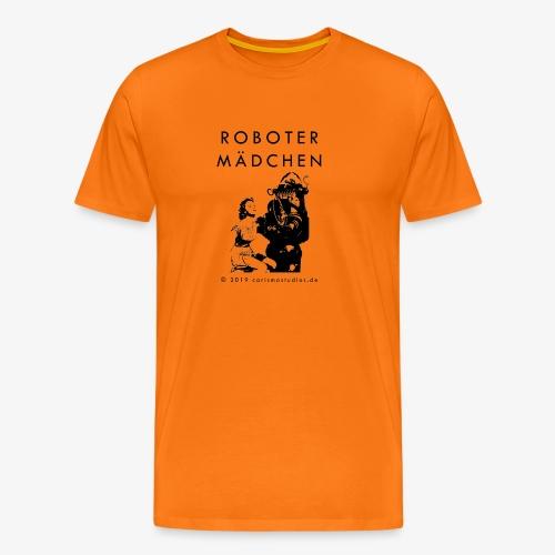 ROBOTER MAeDCHEN Maengelexemplar black font - Männer Premium T-Shirt