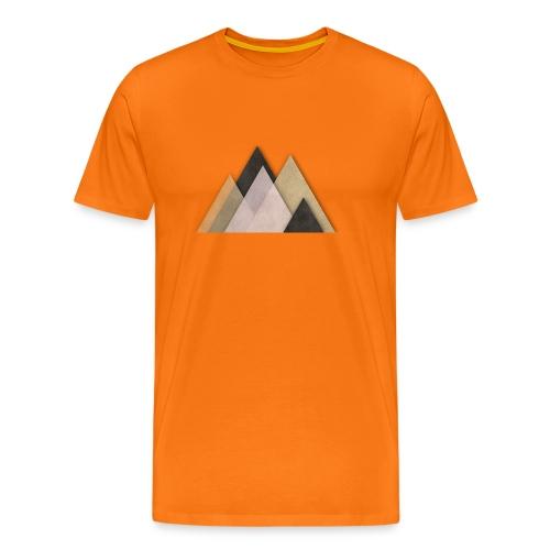 Berge abstrakt - Männer Premium T-Shirt