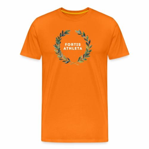 Lorbeerkrankz weiß png - Männer Premium T-Shirt