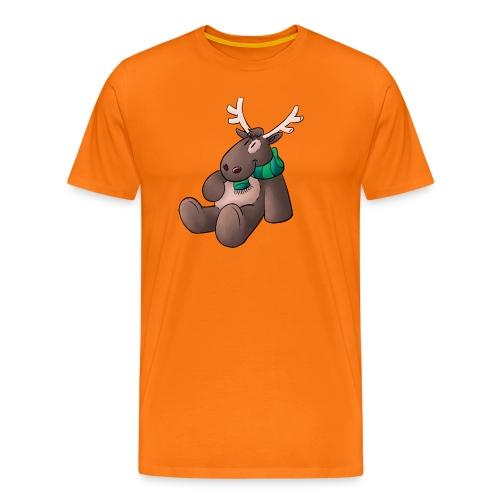 Elch - Kuschelelch sitzend - Männer Premium T-Shirt