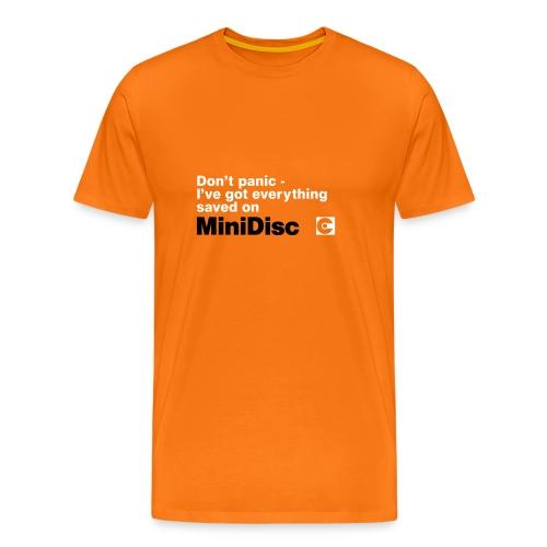 MINIDISC Don't Panic! - Men's Premium T-Shirt