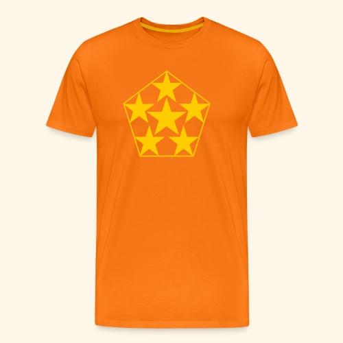 5 STAR gelb - Männer Premium T-Shirt