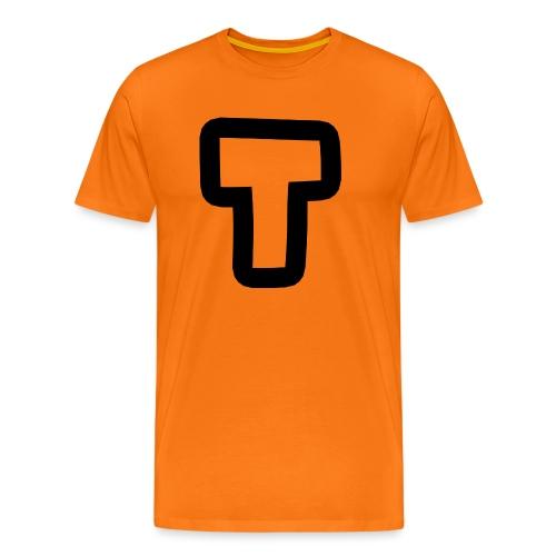 T BIG transparent black stroke - Men's Premium T-Shirt