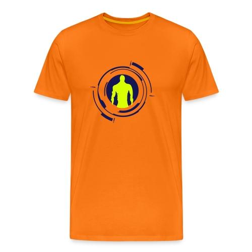 Gesänge der Gefallenen (Neon Gelb / Navy) - Männer Premium T-Shirt
