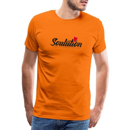 Soulution Logo - schwarz - Männer Premium T-Shirt