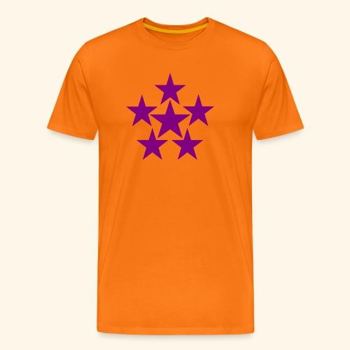 5 STAR lilla - Männer Premium T-Shirt