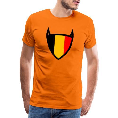 Diable du bouclier national belge - T-shirt Premium Homme