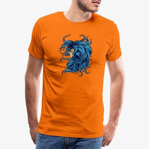 Dame dans le bleu - T-shirt Premium Homme
