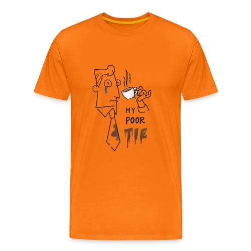 Povera cravatta - caffè comico fumetto disegno - Maglietta Premium da uomo