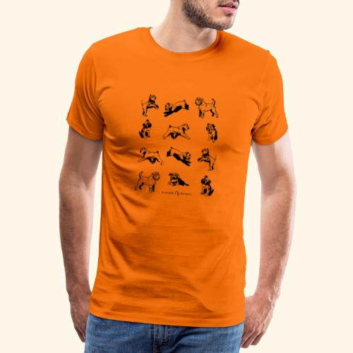 Brussels Griffon pattern - T-shirt Premium Homme