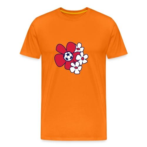 Voetbal Bloemen Rio - Mannen Premium T-shirt