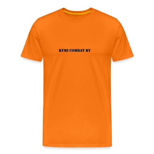 kc musta teksti transparent png - Miesten premium t-paita
