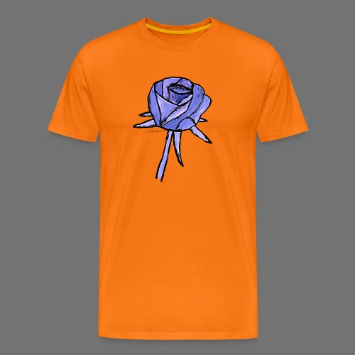 Rose blue sixnineline style - Men's Premium T-Shirt