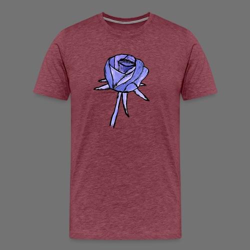 Rose sininen sixnineline style - Miesten premium t-paita