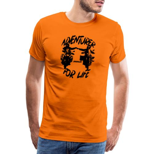 Adventurer For Life - black print - Mannen Premium T-shirt