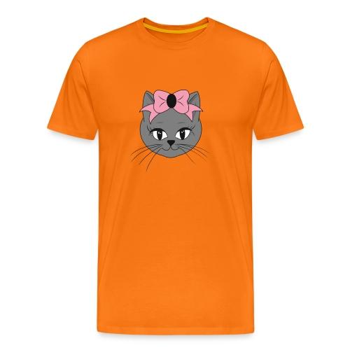 Meww Kitty Cat Hoodie - Premium T-skjorte for menn