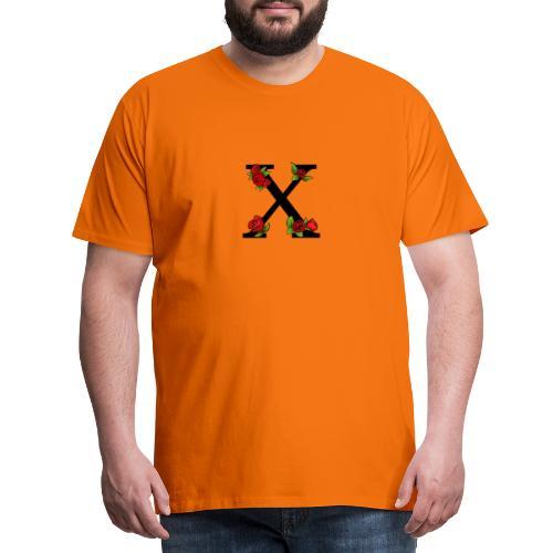 Kanji Rose print - Premium T-skjorte for menn