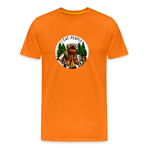 I Hate People Camping Hiking Here - Mannen Premium T-shirt