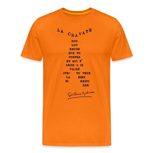 Calligramme Cravate Apollinaire - T-shirt Premium Homme