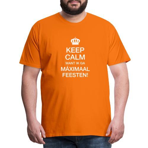 Keep Calm Máximaal feesten - Mannen Premium T-shirt